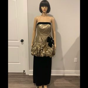 Vintage 80's Mike Benet Formals Gown in gold/black